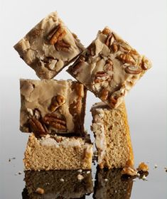 Praline-Topped Blondies|A layer of brown sugar, butter, and vanilla holds the chopped pecans in place.