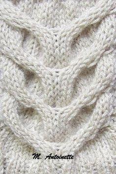 Risultati immagini per ponto de trico chains paternn Sweater Knitting Patterns, Lace Knitting, Knitting Stitches, Diy Crafts Knitting, Knitting Projects, Stitch Patterns, Crochet Patterns, Flower Granny Square, Knitted Heart