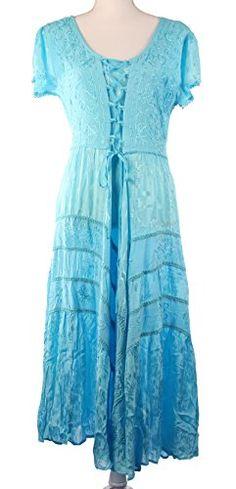 Women's Boho Gypsy Embroidery Corset Style Dress, One Siz. Bohemian Look, Boho Gypsy, Boho Chic, Boho Fashion, Fashion Outfits, Fashion Tips, Boho Girl, Corset, Fashion Accessories