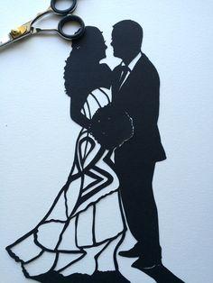 Wedding Silhouette Wall Art  First от SilhouettesbyElle на Etsy