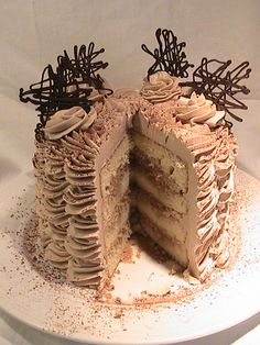 Mocha Espresso Mascarpone Layer Cake ~ especially for lovers of coffee!!!!