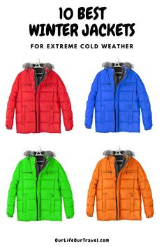 This guide will help you to choose the best winter jackets for cold and extreme cold weather. Winter hiking jackets and winter jackets for city as well. Women winter jackets and Men winter jackets as well. Important part of your hiking gear and your everyday life. #winterjacket #winterhiking #hikinggear #ourlifeourtravel
