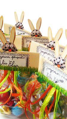 Papier, ciseaux, cailloux...: Tiens, Maîtresse... Sachets pour Pâques