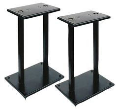 Quad Speaker Stands (Pair) - Universal Heavy Duty Steel Base Top Plates & Vertical Columns w/ Adjustable Spikes Perfect for Home Surround Sound System Bookshelf & Satellite Speakers - Pyle Monitor Speaker Stands, Bookshelf Speaker Stands, Speaker Mounts, Steel Bookshelf, Large Bookshelves, Home Cinema Speakers, Audio Speakers, Room Speakers, Hifi Audio