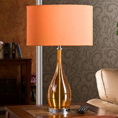 Loving the orange lamp...I found 1 at a thrift store last wkend for $15 - I should have bought it UGH!!