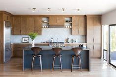 Terrific kitchen from a mid-century remodel.