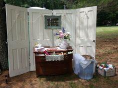 Vanity for the outdoor restroom