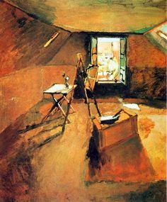 L`atelier sous les toits - 1903, H. Matisse