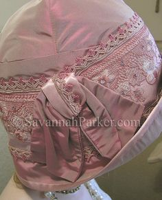 Antique Style Dusty Rose Vintage Silk Embroidery