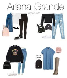 """""""*requested* affordable ari inspired back 2 school outfits"""" by jacque-luna ❤ liked on Polyvore featuring River Island, Vans, A BATHING APE, Converse, Topshop, Pull&Bear, Henri Bendel, Boohoo, adidas and Zara"""