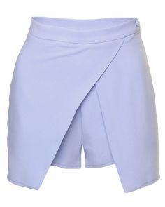 LOVE Powder Blue Asymmetrical Skorts - In Love With Fashion