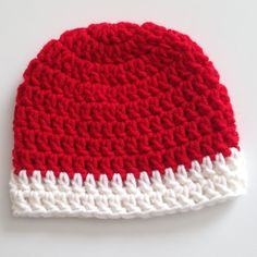 38cc785ff7f Christmas Crochet Baby Hat Photo Prop Red by MirandagirlDesigns  (Accessories