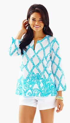 Lilly Pulitzer Amelia Tunic in Turtle Cove @oceanpalm