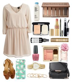 """cross my heart and hope to die"" by scarlett-927 ❤ liked on Polyvore featuring VILA, Hermès, Alexander Wang, With Love From CA, Tommy Hilfiger, OPI, Urban Decay, Lancôme, Cynthia Rowley and Lumière"