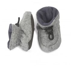 Indoor Grey Velvet Stars Shoe from Melton Baby shoes
