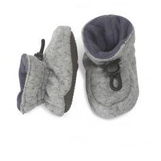 Indoor Grey Velvet Stars Shoe from Melton Baby shoes