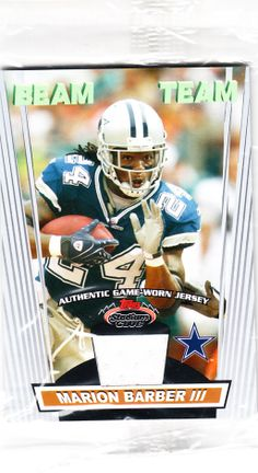 2008 Stadium Club Beam Team Uncirculate Factory Sealed Rookie Marion Barber Authentic Piece Of Game Worn Jersey - Collector Revolution