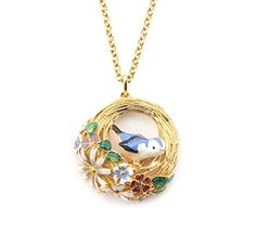 Birds Nest Pendant Necklace by Bill Skinner