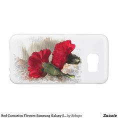 Red Carnation Flowers Samsung Galaxy S6 Cases