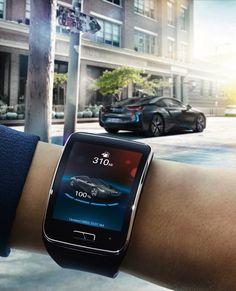 Samsung Gear S controlling BMW from far away