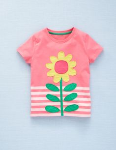 Mini Boden girls candy flower tee