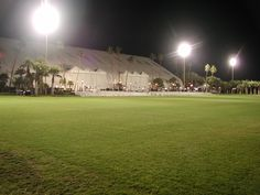 The Forum venue and polo field has lights for night events.