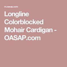 Longline Colorblocked Mohair Cardigan - OASAP.com