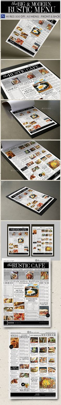 Big & Modern Rustic Menu
