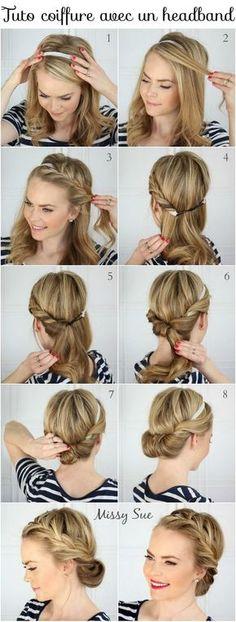 un tuto coiffure avec headband: