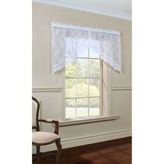 Mona Lisa White 32 x 72-Inch Two-Piece Swag Valance