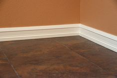 Laundry room remodel baseboard