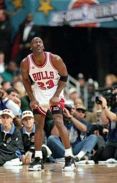 The GOAT takes a pause in action during the 98 all star game in New York, where he came away with the MVP honors.