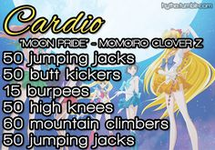 GoBoiano - Are You Mahou Shoujo Enough To Complete The Magical Girl Workout? You have the legend th of the intro song to the selected show to complete this workout, could you do it??