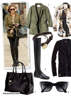 Featured:  1. Velvet LILY ALDRIDGE FOR VELVET RUBY JACKET ,  2. Target3.1 PHILLIP LIM FOR TARGET® LONG-SLEEVE BLOUSE,  3. Rag & Bone - Army Belt , 4. Stuart Weitzman50/50 NAPA STRETCH OVER-THE-KNEE BOOT,  5. J.Crew PERFECT-FIT MIXED-TAPE CARDIGAN,  6. ray ban 52MM RETRO SUNGLASSES,  7. Ralph LaurenNEWBURY DOUBLE-Z