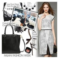 """Milan Fashion Week"" by pokadoll ❤ liked on Polyvore featuring mode, Marc Jacobs, women's clothing, women, female, woman, misses, juniors en vipme"
