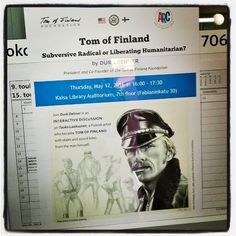 #DurkDehner speaking #TomofFinland #library  #university of #Helsinki 12.5.16 right now