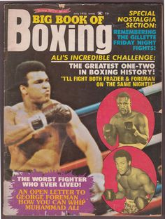 1975 July BIG BOOK OF BOXING Muhammad Ali