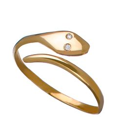 Ariel Gordon Gold and Diamond Snake Ring #maxandchloe
