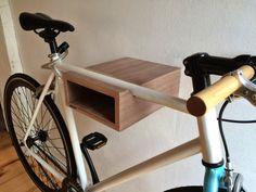 Wandhalterung für Fahrrad // wall mount for bike by stückwerk-möbel via DaWanda.com