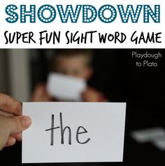One of my favorite sight word games ever. Showdown!!