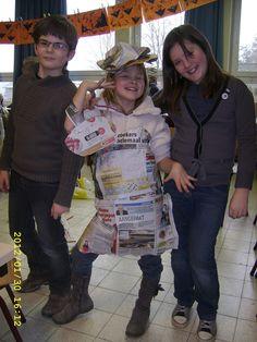 de Gobbel vierde leerjaar A: 30 januari 2012 : Knutselen met kranten