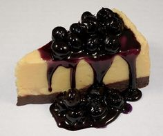 Fake Food Blueberry Cheesecake No Plate Included