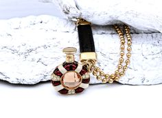 Bottle Pendant Keychain Gold Plated 18k #natale #christmas #jewelry #style #accessories #fashion #bottle #bottiglia #flaconcino #flacone #keychain #portachiavi