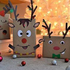 Christmas Gift Box, Christmas Mood, Christmas Gift Wrapping, Kids Christmas, Christmas Presents, Christmas Crafts, Christmas Activities For Kids, Winter Crafts For Kids, Gift Box Design