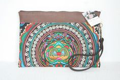 Hill Tribe Clutch Wristlet HMONG Cosmetic Bag  by ThaiHandbags, $12.99