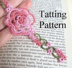 PDF Tatting Pattern Rosa Bookmark Intermediate door TataniaRosa