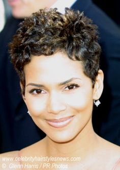 Very Short Natural Curly Hair | ... we are seeing a rare form of halle berry s short hair her hair is