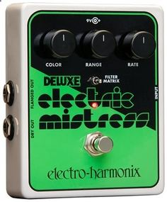 Guitar Pedals - Analog Flanger Guitar Pedal with Color, Range, and Rate Controls; Filter Matrix Mode; LED Indicator; and 200mA Power Supply