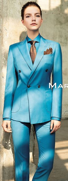 Dressed In Blue Pants Suit And Tie | Karla | Flickr