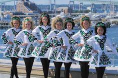 Dancing Irish twirlers